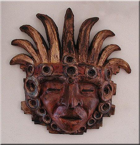 aztec eagle dancer mask